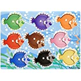 Melissa & Doug Colourful Fish Wooden Peg Puzzle (9 pcs)