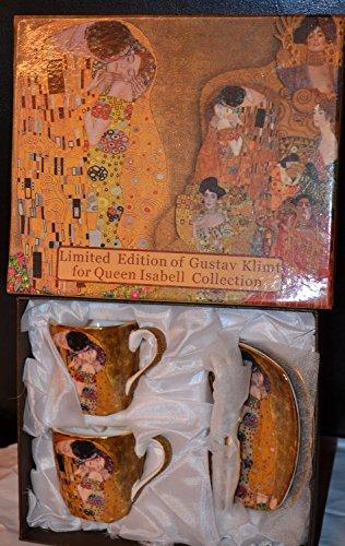 Gustav Klimt Espressotassen Der Kuss 6teilig Porzellan (Beige/Gold)