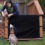 LeKing Animali Cani Cancello Guardia di sicurezza per domestici, Scala Protettiva Recinzione Cortile Deck Recinzione Protezione mobili Barriera Baby 110x91cm