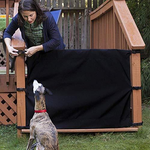 LeKing Puerta Guardia de Seguridad para Mascotas, Escalera Protectora Valla Ablashi Deck Valla Protección Muebles Barrera Baby 110x 91cm