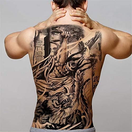 Tzxdbh 2pcs-men tatuaggi temporanei trasferire grandi d'acqua pieno di tatuaggi indietro dragon tattoo ali del tatuaggio e della body art sticker decalcomanie grandi 2pcs 27