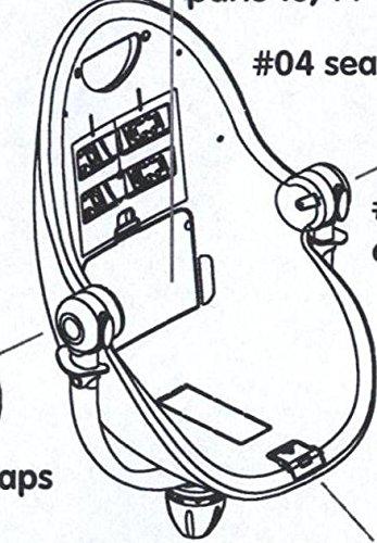 /Sangle /à Boucle/ /# 06/ /Safety Harness/ /Rock Red Pi/èce de rechange pour chaise haute Bloom Fresco/