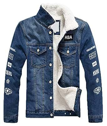 49ebe7425df5 Bild nicht verfügbar. Keine Abbildung vorhanden für. Farbe  LCXYYY Herren  Wintermantel Jeans Jacke Mäntel Denim Jeansjacke Winter Denim Jacket  Gefütterte ...