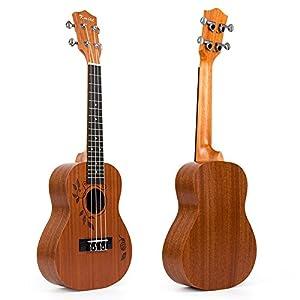 Concert Ukulele Sapele Ukelele Uke 23 inch 4 String Hawaii Guitar with Aquila Strings Snail Pattern by Kmise …