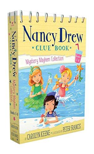Nancy Drew Clue Book Mystery Mayhem Collection Books 1-4: Pool Party Puzzler; Last Lemonade Standing; A Star Witness; Big Top Flop - Hardy Boys Nancy Drew