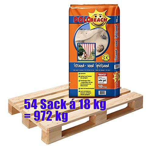 Preisvergleich Produktbild DOLOBeach Strand- und Spielsand 54 Sack mit je 18 kg = 972 kg ÖkoTest SEHR GUT
