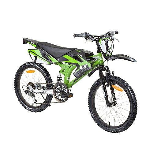 Preisvergleich Produktbild Kinderfahrrad Kawasaki Rebel Motobike Cross 20 Zoll Gangschaltung Shimano 6 Gänge
