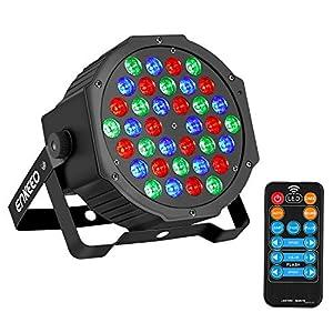 luz y sonido para eventos: ENKEEO Luz Escenario 36 LEDs RGB Activado Sonidos DMX, 6 Modos y Control Remoto,...