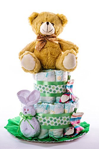 Flores AVRIL ofrece: tarta pañales unisex