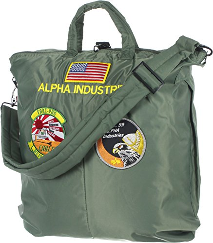 Alpha Industries Helmet Bag Umhängetasche Sage Gre (Umhängetasche Alpha)