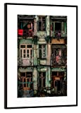 """artboxONE framed poster black (metallic) 45x30 cm """"Remnants of another era"""" by Pixum Edition - framed print"""