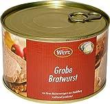 Hausmacher Dosenwurst Grobe Bratwurst 400g Dose MHD 11/19
