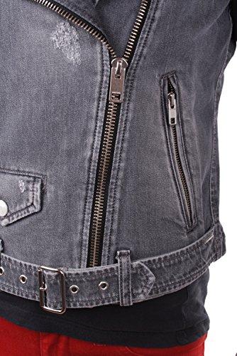 Diesel R-LUPUS GIACCA Giacca da donna in jeans grigio Grigio