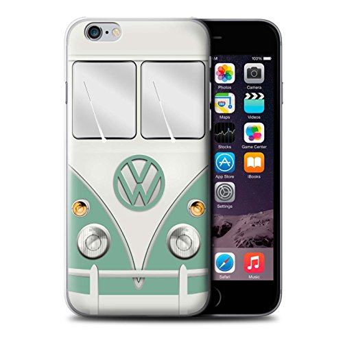 Stuff4 Hülle / Case für Apple iPhone 6+/Plus 5.5 / Türkisgrün Muster / Retro T1 Wohnmobil Bus Kollektion Türkisgrün