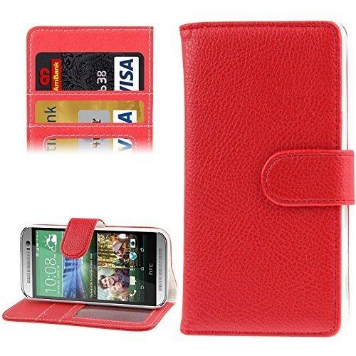 HTC One mini 2 Handy Hülle Schutzhülle Schutztasche Tasche Case Cover Etui Schale Handyhülle Handyschale Handytasche Rot