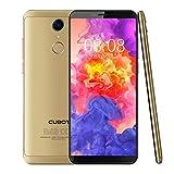 CUBOT Nova 4G LTE Dual SIM Smartphone (Dual 4G Netzwerke) Handy Ohne Vertrag Android 8,1, 5.5 Zoll(18:9) HD+IPS Display 2800 mAh Akku 3GB RAM+16GB ROM 13MP+8MP Kamera 0.1s Fingerprint Sensor(Gold)