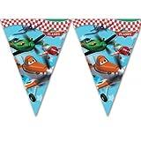 Disney Flugzeuge Geburtstag Party Kunststoff-Flagge Wimpel.