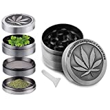 XiuFen Maple Leaf Pattern Herb Grinder Spice Weed Smoke Zinc Alloy Crusher