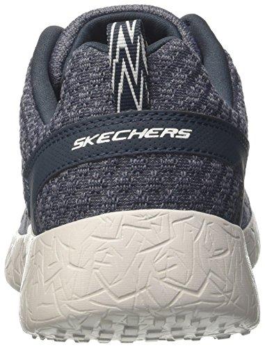 Skechers Herren Burst-Athis Sneakers Blau (NVGY)