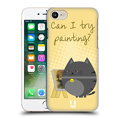 Head Case Designs Dormire Full Gatti Curiosi Cover Retro Rigida per Apple iPhone 7 Plus / 8 Plus Dipingere Full