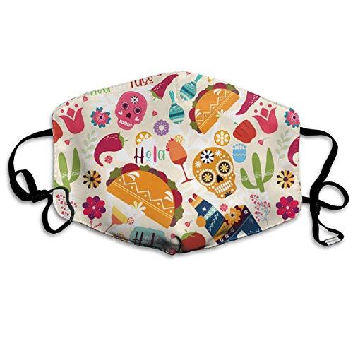 WBinHua Masken für Erwachsene, Mask Face, Mouth Mask, Breathable Mask Anti Dust, Unisex Viva La Taco Printed Cotton Mouth-Masks Face Mask Polyester Anti-dust ()