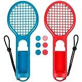 zacro 2Pcs Tennisschläger für Nintendo Schalter Joy-Con Controller und 6Daumen Stick Griff