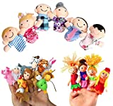 #5: Kuhu Creations® Supreme Finger Puppets Baby Story Telling Toys. (22 Pcs, Animal.12+Family.6+Mermaid.4)