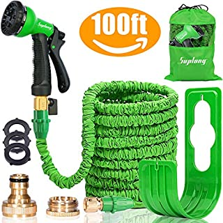 Suplong Expandable Garden Water Hose Pipe - 100FT Magic Expanding Hose with 3/4