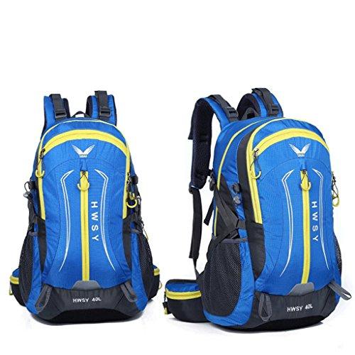 La borsa a tracolla colori misti nuova borsa da viaggio esterno pacchetto arrampicata 40L trekking impermeabili alpinismo commercio blu