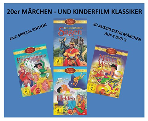 20er Märchen - und Kinderfilm Klassiker ( DVD Special Edition ) ( mit Das Dschungelbuch - Die Schöne und das Biest - Mulan - Pocahontas - Casper - Der Glöckner - Geschichte Halloween-geist über