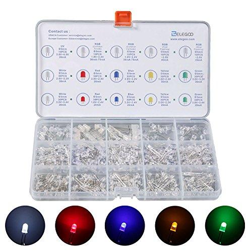 elegoo 3m und 5m verbreitet und transparent Kit sortiert LED 5Farben