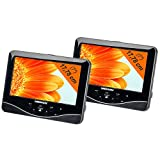Medion P720271 tragbarer Twin DVD-Player (17,8 cm (7 Zoll) LCD-Display, 2x 2 Watt, USB)