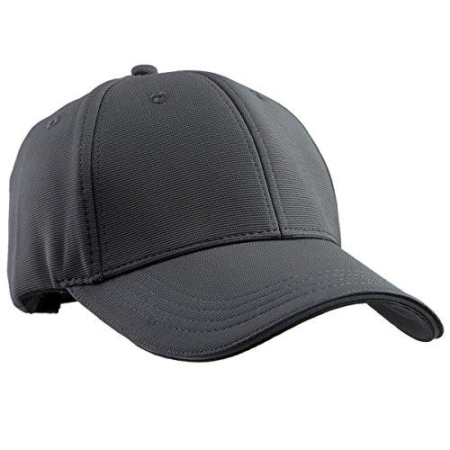 squaregarden Baseball-Mützen für Damen und Herren, verstellbares Visier Sports Hüte, Herren, dunkelgrau Solid Twill Visor