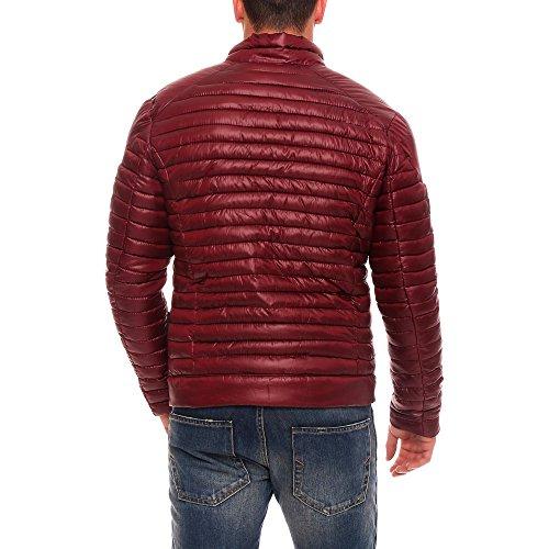 Marikoo CHEROKKE Herren Winterjacke Steppjacke Übergangsjacke gesteppte Jacke Chrome Optik Gr. S-XXL 4Farben Bordeaux