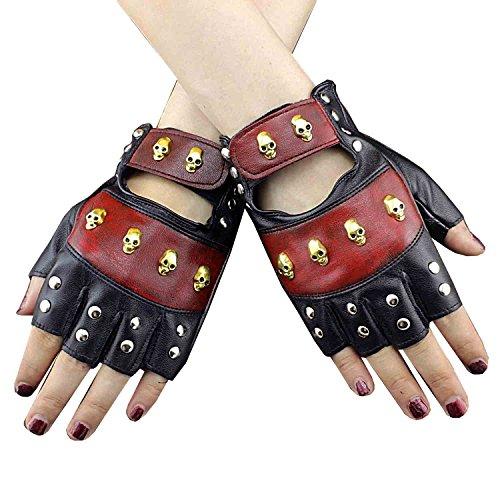 fahren motorrad igel spiele fingerlose handschuhe Leder 16 ()