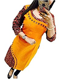 Holyday Kurti For Women Party Wear Designer Yellow Color
