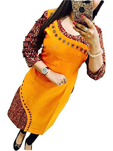 Holyday Kurti For Women Party Wear Designer Yellow Color XL Size