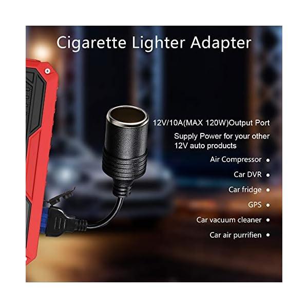 JUMTOP Arrancador Bateria Coche, 14400mAh 2000A Pico Arrancador Coche, Arranque Bateria Coche (Motor 8,0L Gas / 6,0L…