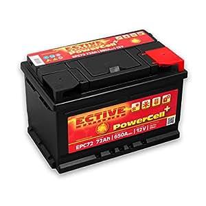ECTIVE 72Ah 650A EPC-Serie 12V Autobatterie in 8 Varianten: 46Ah - 100Ah (wartungsfrei)