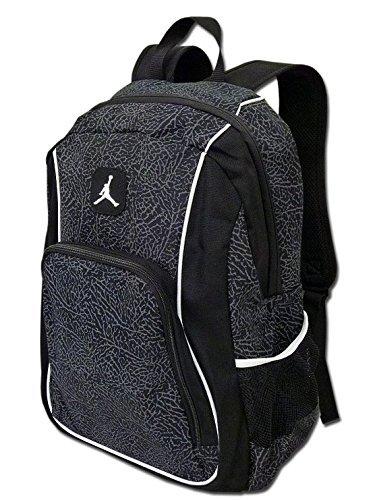Nike Jordan Jumpman23 Backpack (One Size Fits All, Black/White) by Nike by Nike