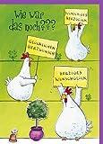 Lustige Maxi A4 Glückwunschkarte Hühner