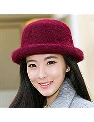 Señoras hat, otoño invierno sweater pac, pescador, sombrero, Sombrero de invierno gorro tejido,m (56 58cm),jiuhongse