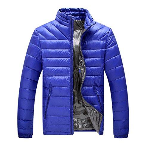 Deylaying Hiver Hommes Col Montant Poids léger Canard Doudoune Confort Chaud Pardessus Outwear