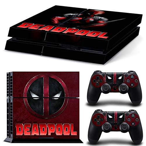 Ps4 Playstation 4 Console Skin Decal Sticker DeadPool Design + 2 Controller Skins Set