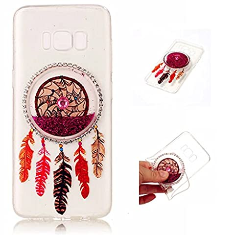 Samsung Galaxy S8 Case Cover MUTOUREN TPU Silicone feel good 3D transparent anti scratch bag case Premium TPU Shock Absorption mobile case-quicksand dreamcatcher