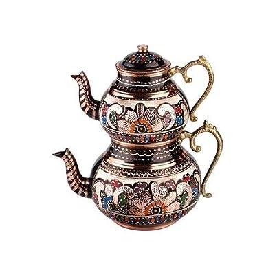 TK Théière Orientale en cuivre pour thé Turc, théière Turque, théière caydanlique, théière, Bouilloire