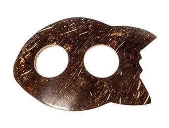 Kascha Kokosnuss Sarongschnalle in Fischform - Binden Sie Ihren Sarong oder Pareo zu einem Wickelrock, Wickeltuch, Wickelkleid, Hüftrock.