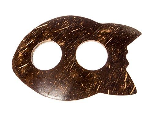 Sarong ca. 170cm x 110cm Handbemalt inkl. Sarongschnalle im Fisch Design - Viele exotische Farben und Muster zur Auswahl - Pareo Dhoti Lunghi Blumen Gelb