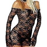 FAMILIZO Mujer Lingerie Babydoll Vestido Pijamas Ropa interior Ropa de dormir Camisones Lencería Erotica Mujer Lencería Set Sexy Mujer Conjuntos De Lencería (Negro)
