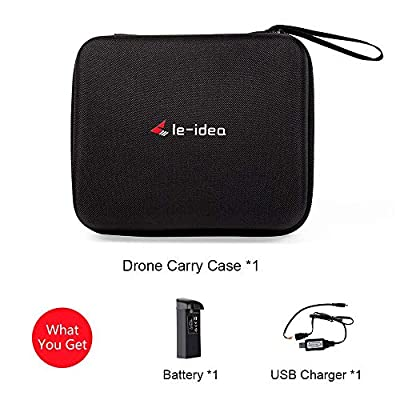 le-idea RC Drone Carry Case Organizer Drone Bag Black Portable IDEA7 RC Drone, Included IDEA7 Battery, USB Charger Line (L7 carry case and battery)